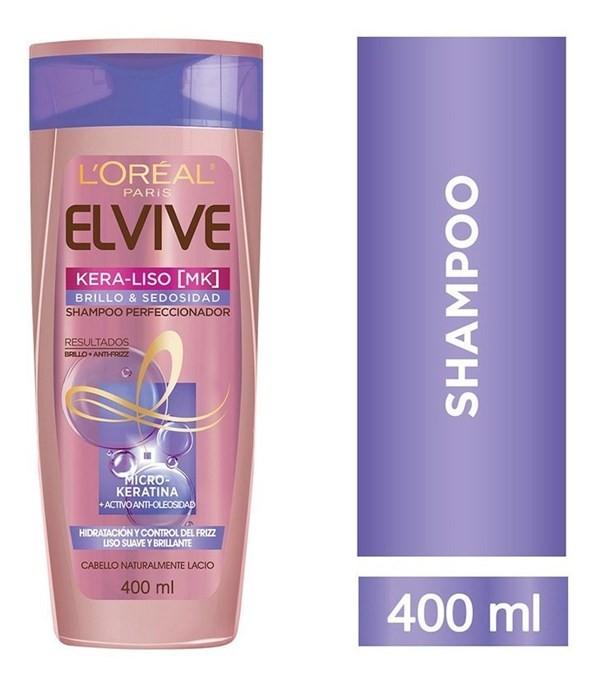 Shampoo Keraliso Brillo Y Sedosidad Elvive 400ml