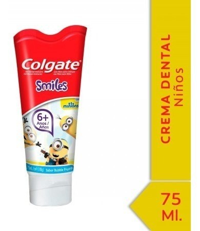 Crema Dental Colgate Smiles Minions 6+ Años 75ml