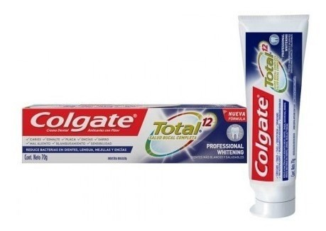 Crema Dental Colgate Total 12 Professional Whitening 70g 2x1