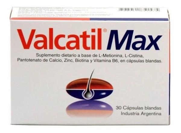 Valcatil Max X 30 Capsulas Blandas Anticaida Aminoacidos