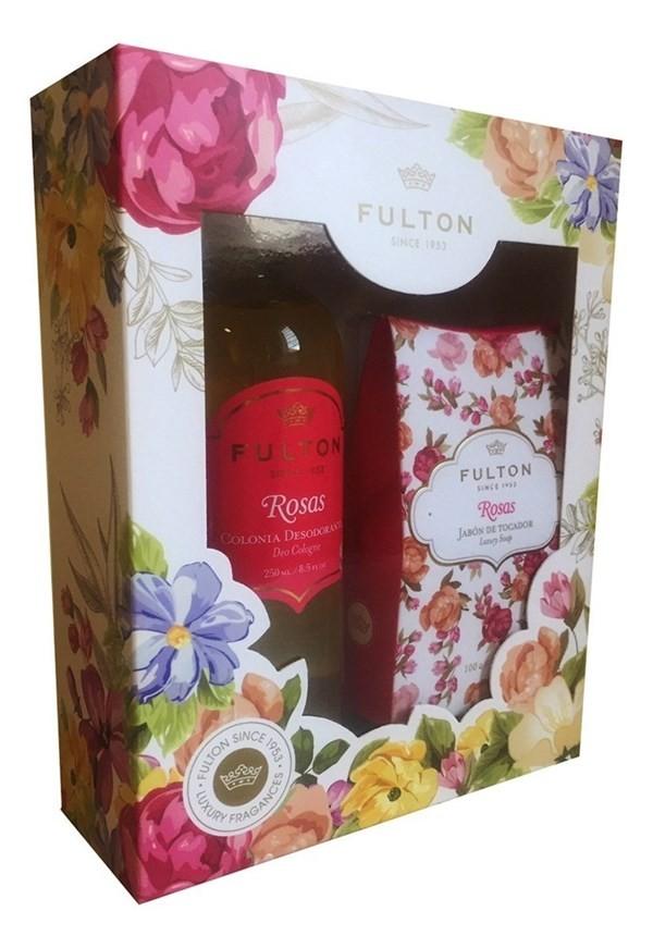 Colonia Fulton Desodorante Rosas + Jabón De Tocador Luxury S