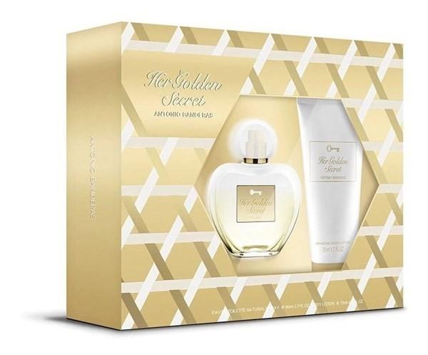 Perfume Antonio Banderas Her Golden Secret Edt 80ml + Deo