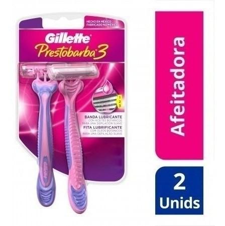Máquinas De Afeitar Gillette Prestobarba3 Mujer 2 Un