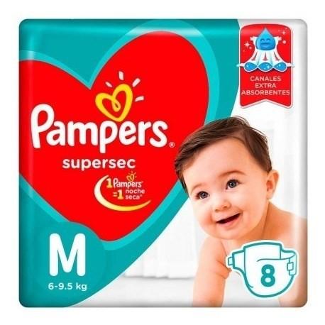 Pampers Pañales Supersec M X 8 Un