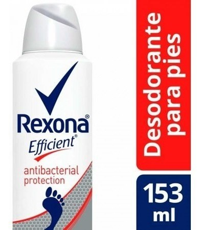 Desodorante Rexona Efficient Antibacterial Pies 153ml