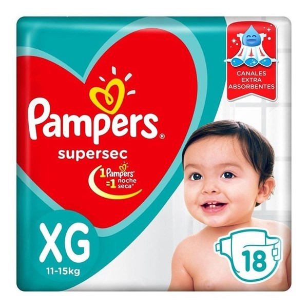 Pañales Pampers Supersec Xg 18 Unidades