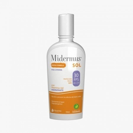 Protector Solar Midermus En Crema Con Vitamina E Y A Fps30 X