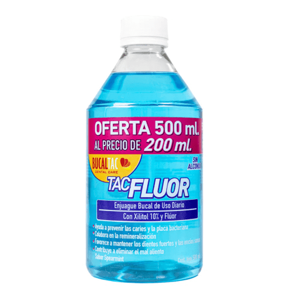 Enjuague Bucal Bucal Tac Tac Flúor 500 ml