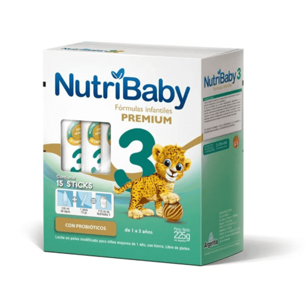 Fórmula Infantil NutriBaby 3 Premium 15 Sticks