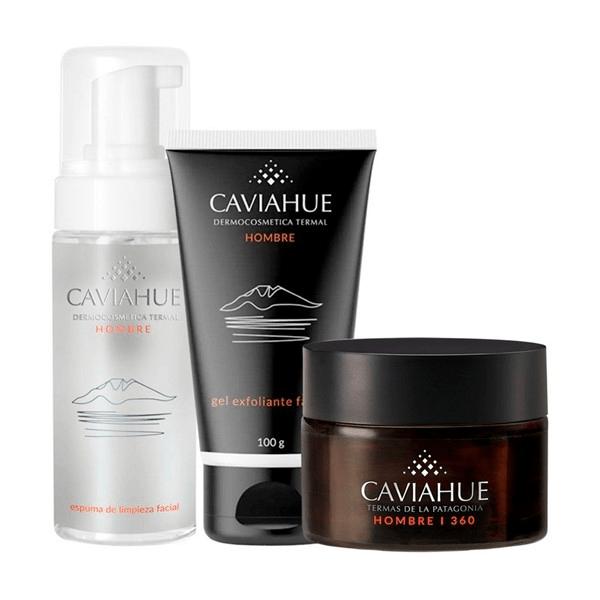 Caviahue COMBO Espuma de Limpieza + Gel Exfoliante + Crema Facial