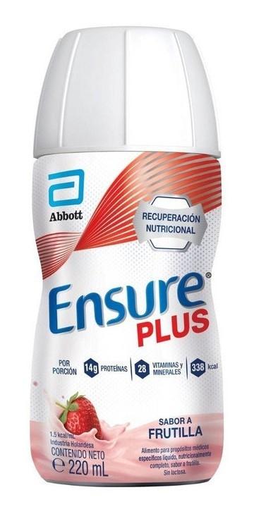 Suplemento Nutricional Ensure Plus Frutilla X220ml