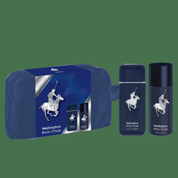 Neceser Wellington Masculino Azul  90 Ml + Deo