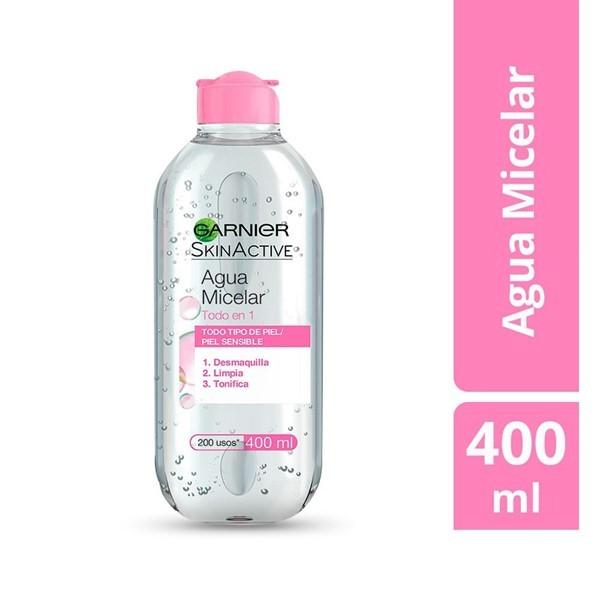 Agua Micelar Ganier Skin Active Todo En 1 X 400 Ml