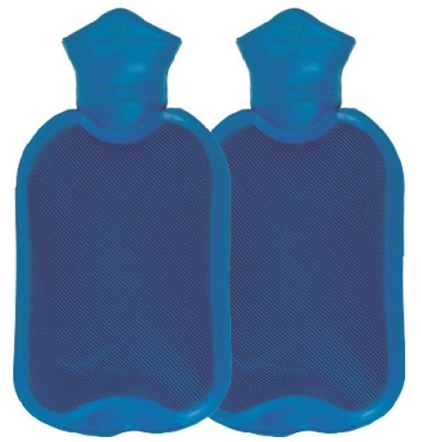 Combo 2X Bolsa Para Agua Caliente Con Tapón Clásica Varios Colores X 2 Litros