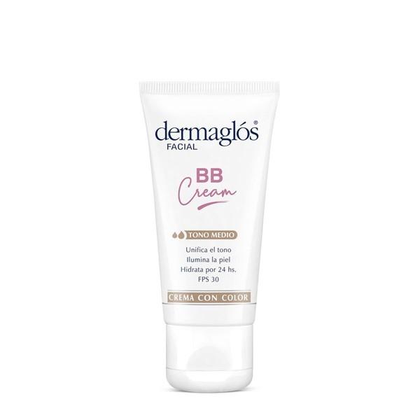 Crema Facial Dermaglós Bb Cream Fps 50 Tono Medio X 50 G