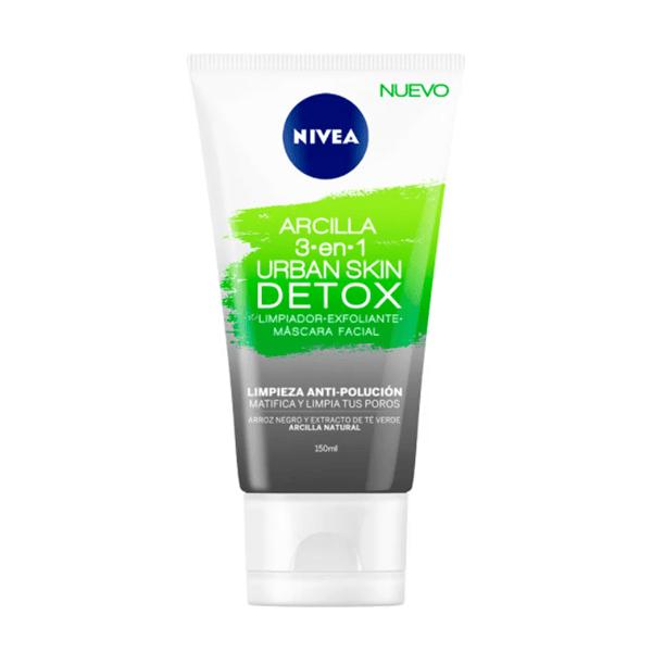 Máscara Facial Nivea Urban Skin Detox Arcilla 3 en 1 150 ml