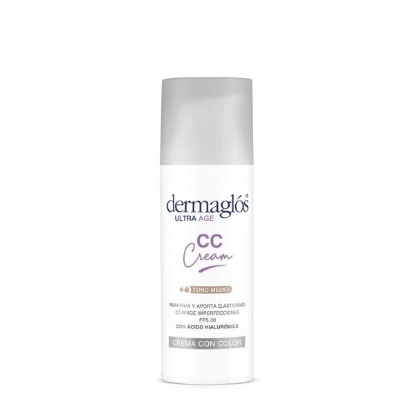 Crema Facial Dermaglós Cc Cream Ultra Age Hidratante De Día Fps 50 X 50 G