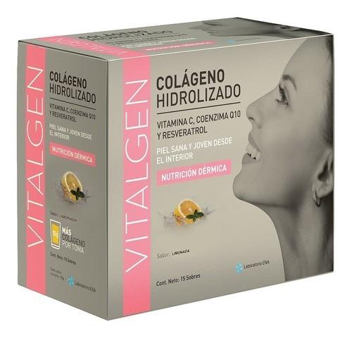 Vitalgen Colágeno Hidrolizado Limonada Caja X 15 Sobres