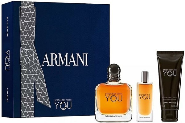 Cofre Stronger With You EDT X 100 Ml + Mini Talla X 15 Ml + Shower Gel X 75 Ml
